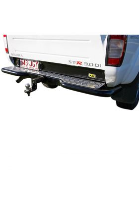 RB6 Steel Rear Protection Step Towbar 63mm Tube Black P/C