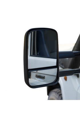 Clearview Towing Mirrors Electric w/ Indicators Black