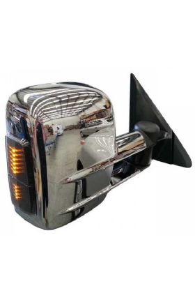 Clearview Towing Mirrors Electric w/ Indicators Chrome