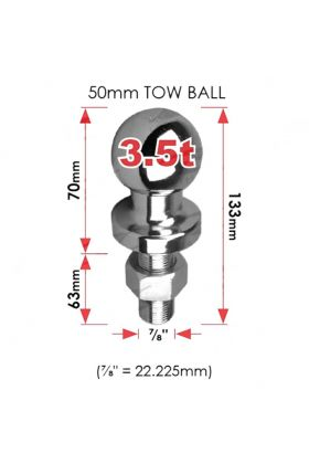 Towball Universal 50mm 3500KG Capacity